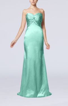 Mint Green Sexy Trumpet Sweetheart Sleeveless Sweep Train Bridesmaid Dresses
