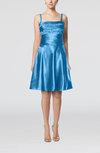 Elegant A-line Thick Straps Zipper Elastic Woven Satin Bridesmaid Dresses