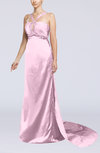 Sexy Sheath Thick Straps Sleeveless Hook up Silk Like Satin Prom Dresses