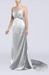 Sexy Sheath Thick Straps Sleeveless Hook up Silk Like Satin Prom Dresses