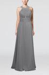 Informal A-line Sleeveless Zip up Chiffon Homecoming Dresses