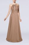 Elegant A-line Sleeveless Zip up Floor Length Evening Dresses