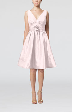 Blush Modern A-line Sleeveless Zipper Ruching Bridesmaid Dresses
