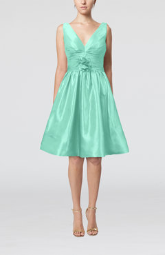 Mint Green Modern A-line Sleeveless Zipper Ruching Bridesmaid Dresses