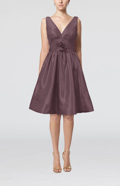 Pewter Modern A-line Sleeveless Zipper Ruching Bridesmaid Dresses