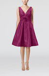 Modern A-line Sleeveless Zipper Ruching Bridesmaid Dresses