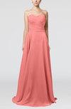 Simple A-line Sweetheart Sleeveless Brush Train Bridesmaid Dresses