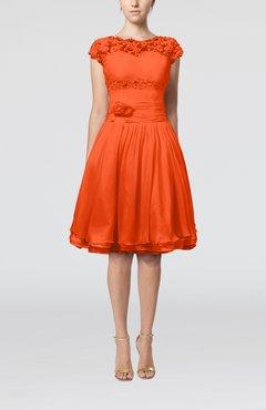Orange or tangerine cocktail dresses