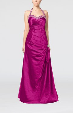 Sangria Mature A-line Sweetheart Backless Taffeta Paillette Evening Dresses