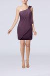 Modest Sheath Zip up Chiffon Short Ruching Club Dresses