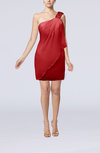 Modest Sheath Zip up Chiffon Short Ruching Club Dresses