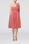 Romantic A-line Sleeveless Zipper Chiffon Tea Length Bridesmaid Dresses