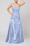 Vintage A-line Strapless Taffeta Floor Length Prom Dresses