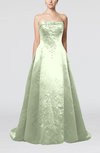 Modern Church Strapless Backless Court Train Sequin Bridal Gowns