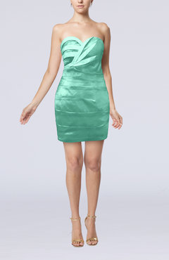 Mint Green Modern Sweetheart Sleeveless Backless Mini Graduation Dresses
