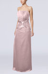 Gorgeous Strapless Zipper Chiffon Floor Length Beaded Prom Dresses