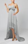 Disney Princess Garden Empire Sleeveless Backless Chiffon Sequin Bridal Gowns