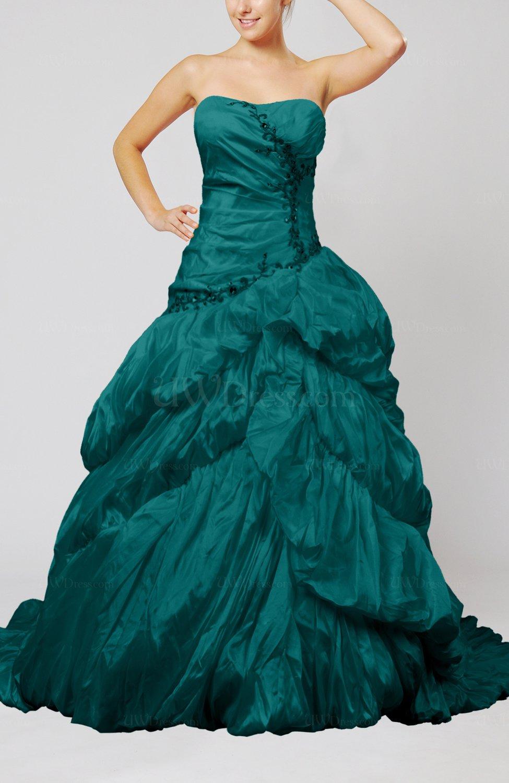 Emerald Green Disney Princess Hall Strapless Sleeveless Taffeta ...