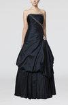 Cinderella Outdoor Sleeveless Taffeta Floor Length Rhinestone Bridal Gowns