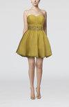Fairytale Sweetheart Zip up Organza Short Rhinestone Flower Girl Dresses