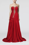 Luxury Sweetheart Sleeveless Brush Train Rhinestone Prom Dresses