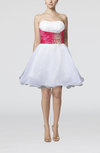 Informal Baby Doll Strapless Sleeveless Zipper Short Homecoming Dresses