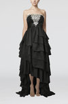 Elegant A-line Strapless Backless Chiffon Party Dresses