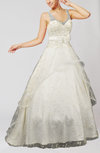 Romantic Garden Princess Sheer Sleeveless Zipper Bridal Gowns