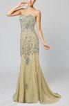Glamorous Trumpet Sleeveless Zipper Court Train Rhinestone Evening Dresses