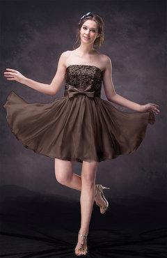 Chocolate Brown Cocktail Dress Gorgeous - UWDress.com
