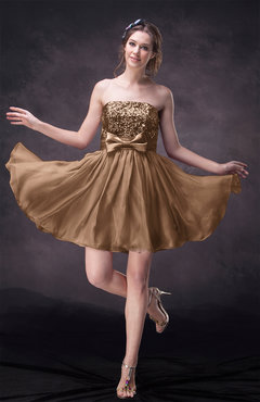 Light Brown Color Cocktail Dresses Short/Mini - UWDress.com