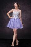 Casual Sleeveless Backless Mini Lace Prom Dresses