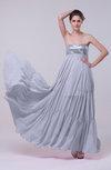 Romantic Empire Sleeveless Backless Sweep Train Evening Dresses