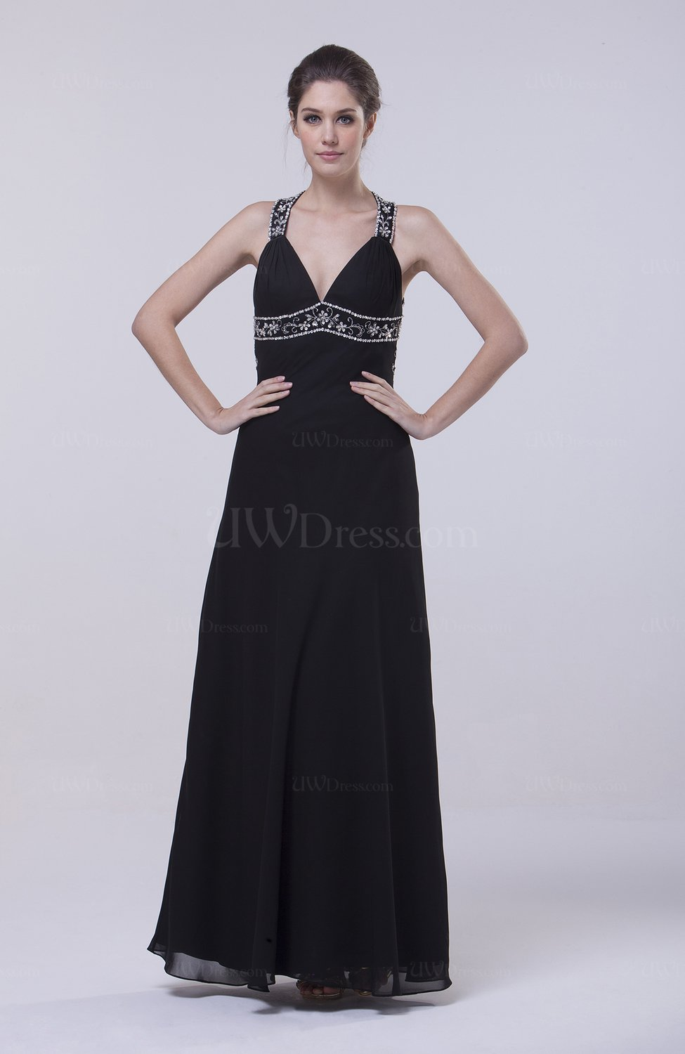 Black elegant sheath halter sleeveless zip up sequin for How to dress up a black dress for a wedding
