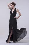 Sexy Column Sleeveless Chiffon Floor Length Split-Front Prom Dresses