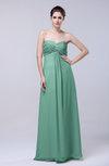 Elegant Empire Chiffon Floor Length Appliques Prom Dresses
