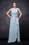 Romantic Illusion Backless Chiffon Flower Wedding Guest Dresses