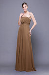 Elegant Empire Sleeveless Zip up Chiffon Sweep Train Bridesmaid Dresses
