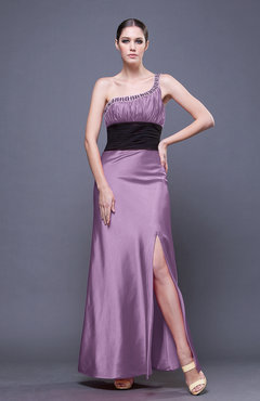 Begonia Traditional Sheath Asymmetric Neckline Ankle Length Sequin Evening Dresses