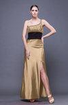 Traditional Sheath Asymmetric Neckline Ankle Length Sequin Evening Dresses
