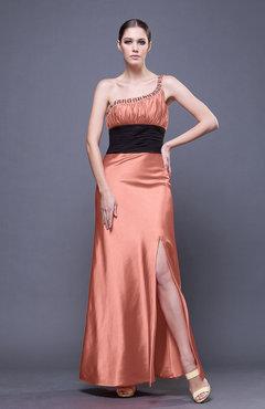 Prom Dresses Peach color Ankle Length - UWDress.com