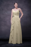 Romantic Sleeveless Zip up Chiffon Floor Length Flower Bridesmaid Dresses