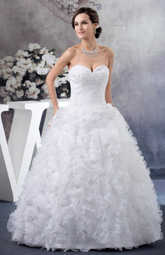 White Ball Gown Bridal Gowns Fall Expensive Gorgeous Country Organza Strapless