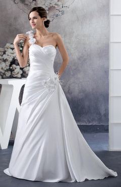 White Inexpensive Bridal Gowns Backless Amazing Spring Winter Mature Low Back
