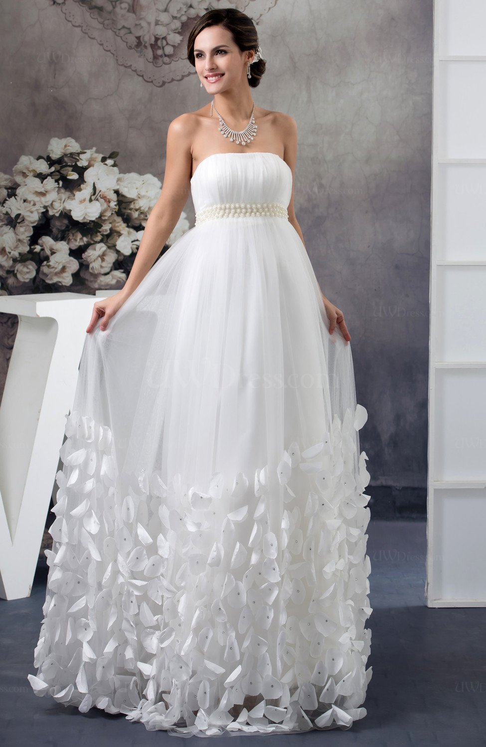 Allure Bridal Gowns Maternity Luxury Western Backless ...