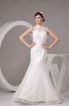 Lace Bridal Gowns Illusion Classic Full Figure Fall Sleeveless Petite