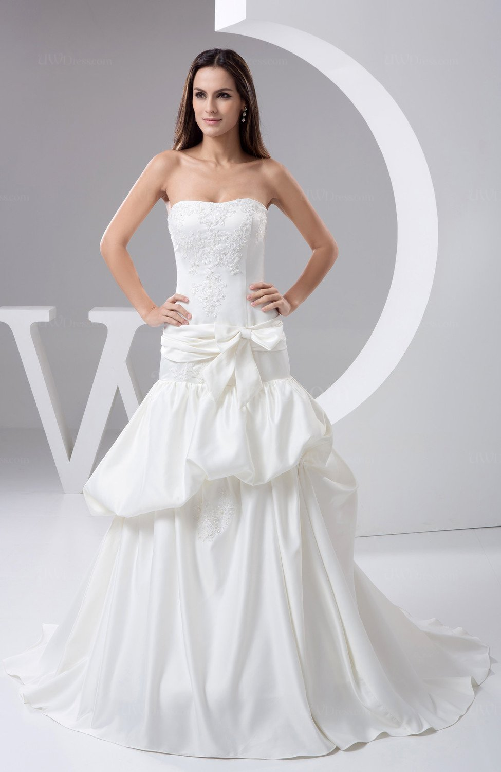 White Allure Bridal Gowns Western Backless Spring Modern ...