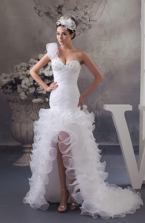 White allure bridal gowns short sleeveless spring modern for Short spring wedding dresses