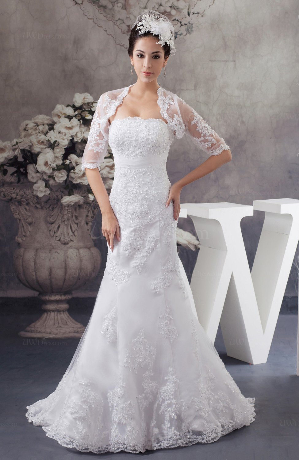 Lace bridal gowns mermaid formal glamorous unique simple for Free plus size wedding dress catalogs