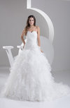 Allure Bridal Gowns Summer Princess Backless Expensive Full Figure Formal